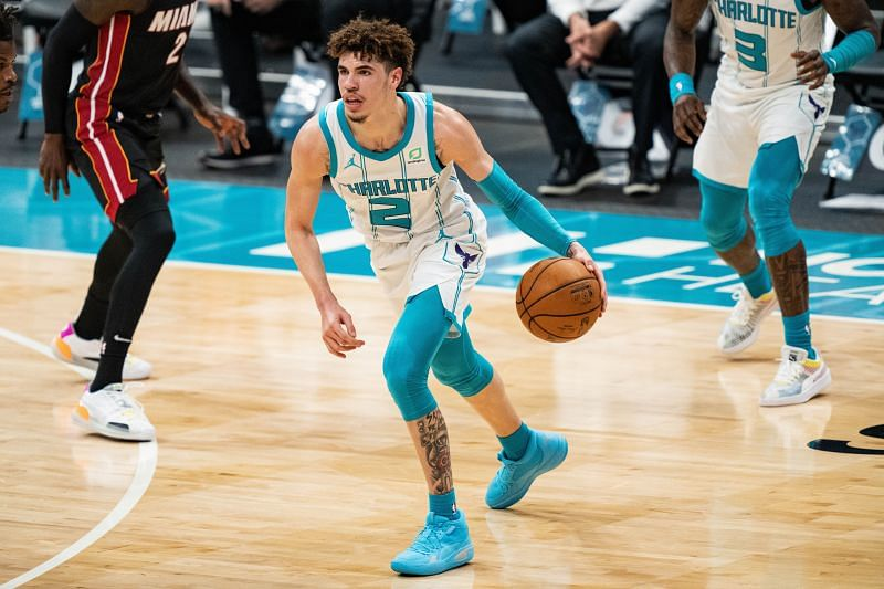 LaMelo Ball playing for NBA playoff contenders Charlotte Hornets