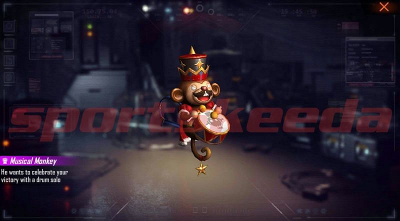 The Musical Monkey backpack skin is one of the rewards of the latest Free Fire redeem code
