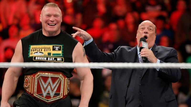 Brock Lesnar and Paul Heyman worked together in 2002 and from 2012 to 2020