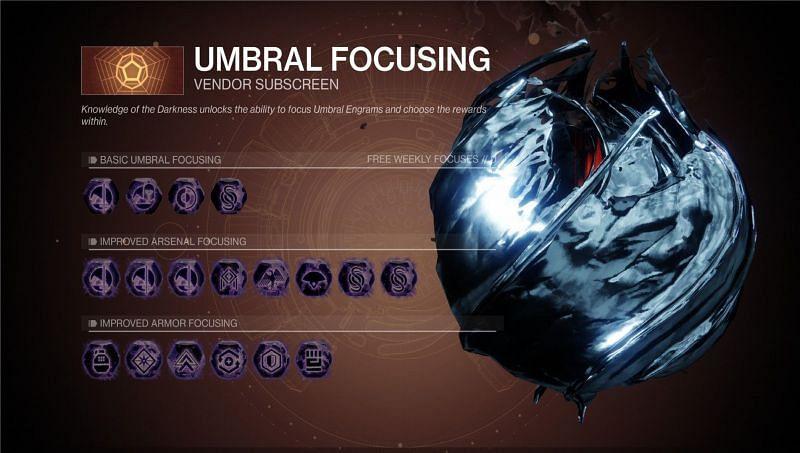 Umbral focusing in Destiny 2