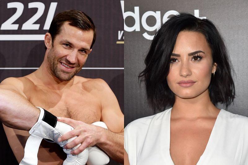 Luke Rockhold (Left); Demi Lovato (Right)