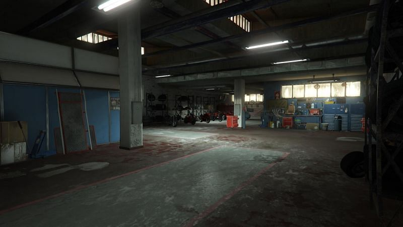 The MC Clubhouse has a huge garage (Image via gtabase)