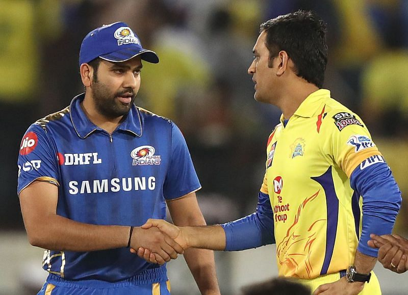 Rohit Sharma (L) & MS Dhoni will lead their respective teams.