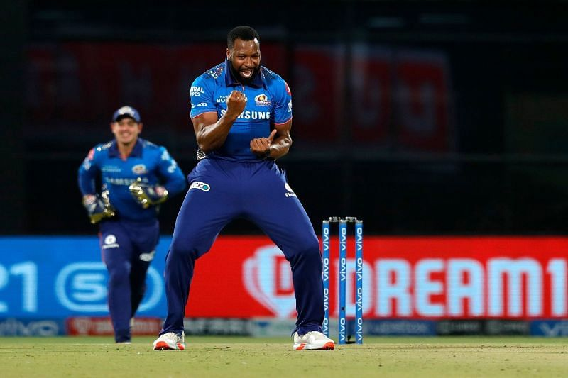 Kieron Pollard snared two crucial wickets in the CSK innings [P/C: iplt20.com]