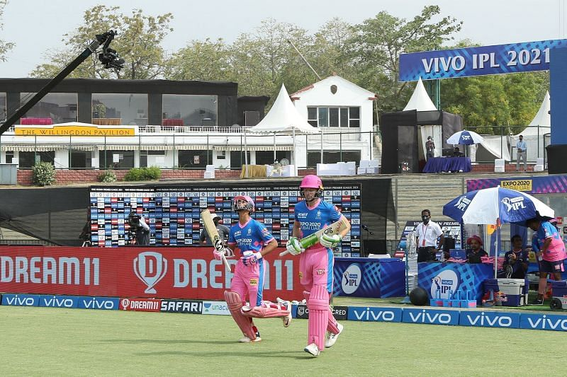 Yashasvi Jaiswal opens the innings for RR with Jos Buttler. (Image Courtesy: IPLT20.com)