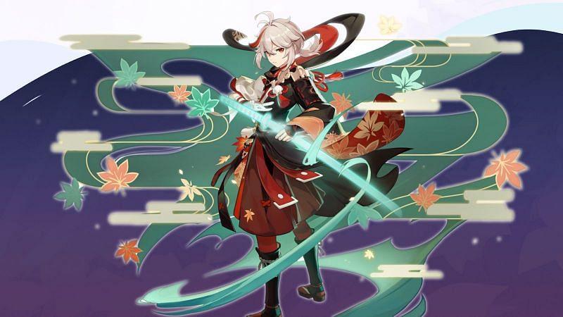 Preview of Kazuha in Genshin Impact (image via Dimbreath)