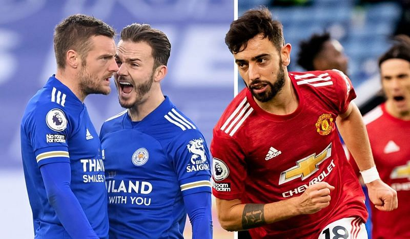 Jamie Vardy (left) and Bruno Fernandes (right) will look for big FPL hauls this weekend.