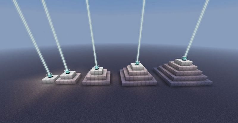A better look at the different sized Beacon levels (Image via instructables)