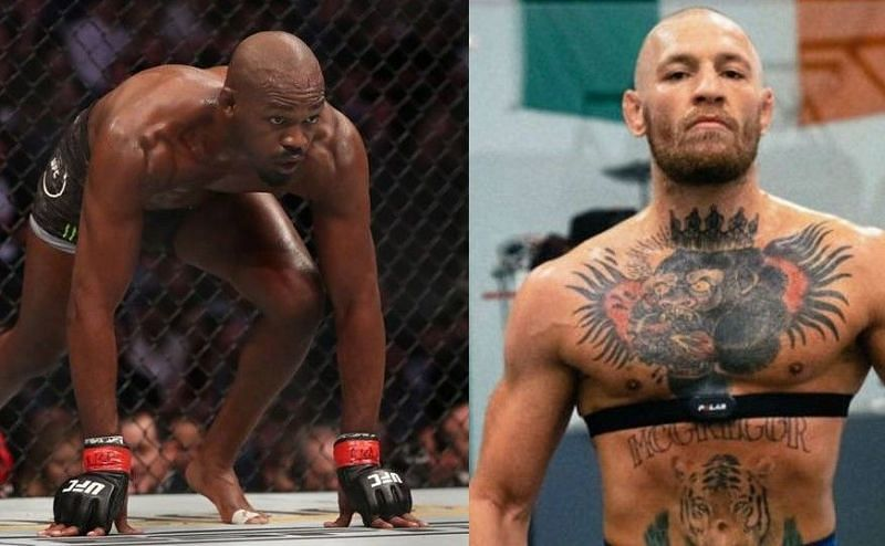 Jon Jones (left); Conor McGregor (right)