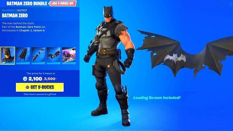 The Batman Zero Point Fortnite Skin in Season 6 (Image via YouTube)