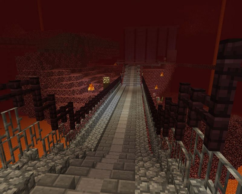 An (overly) glamourous Nether pathway (Image via Pinterest)