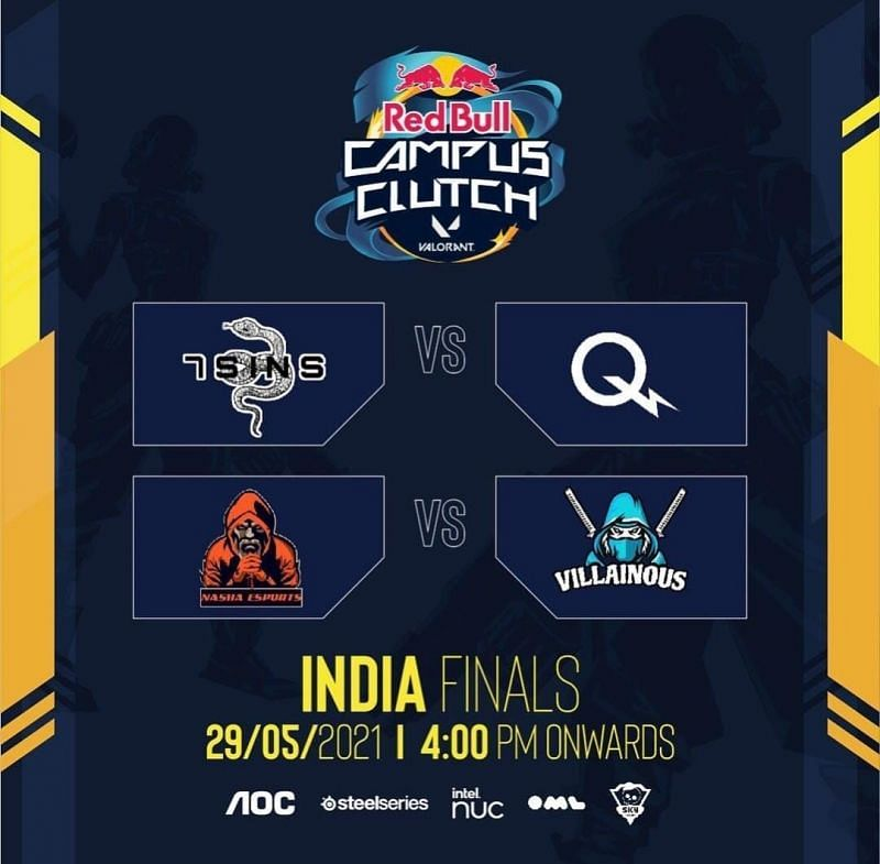 7SINS and Villainous won the semi-finals of the Red Bull Campus Clutch Valorant India Finals