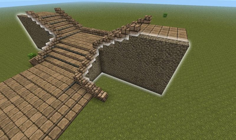 Twisting staircase in Minecraft (Image via Pinterest)