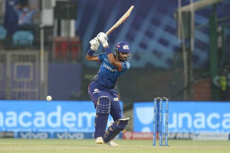 Krunal Pandya averages 13.60 with the bat in IPL 2021 [P/C: iplt20.com]