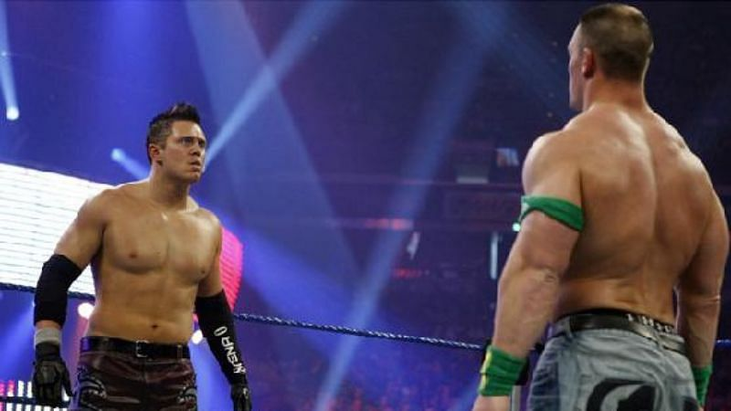 The Miz never looked like winning against John Cena