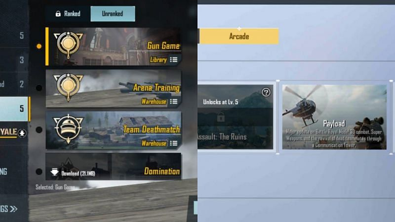 Comparing the number of gameplay modes
