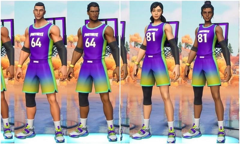 Fortnite x NBA skins and back bling leaked ahead of time (Image via ItsBake and FNInformation, Twitter)