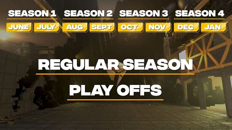 the 4 seasons of TEC Gaunt Valorant Series (Image by The Esports Club)