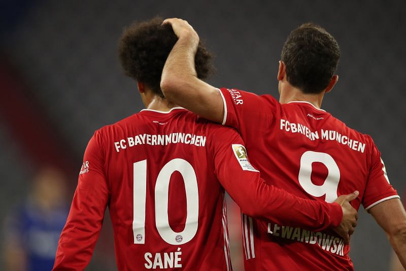 Leroy Sane (left) is a prolific goal-scoring substitute.