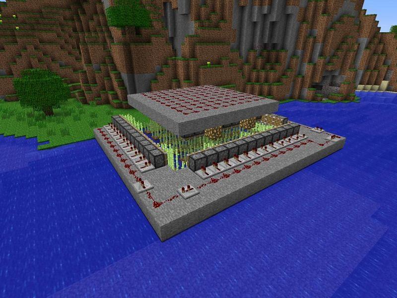 Complicated Redstone Minecraft farm (Image via sandbox worlds)