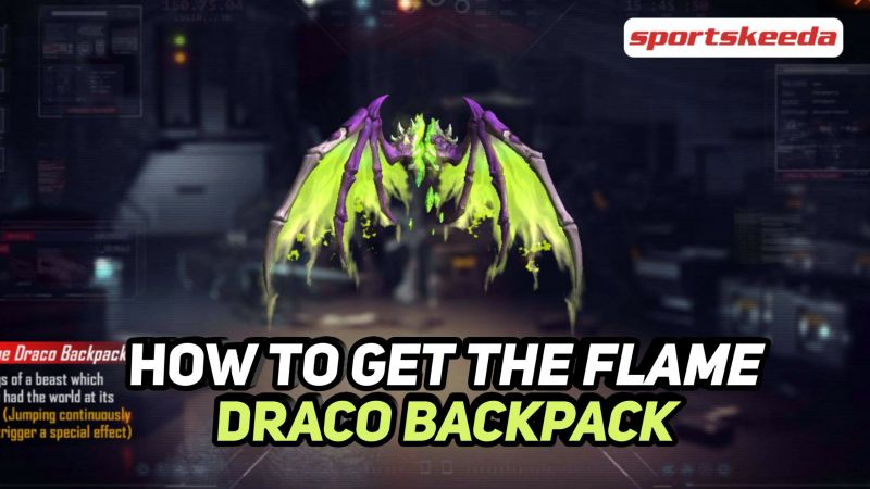 The Flame Draco backpack in Free Fire (Image via Sportskeeda)