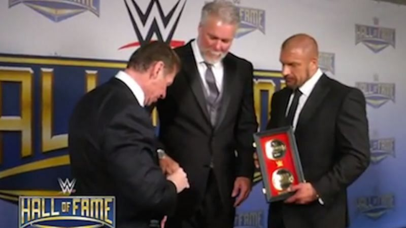Kevin Nash was inducted into Vince McMahon