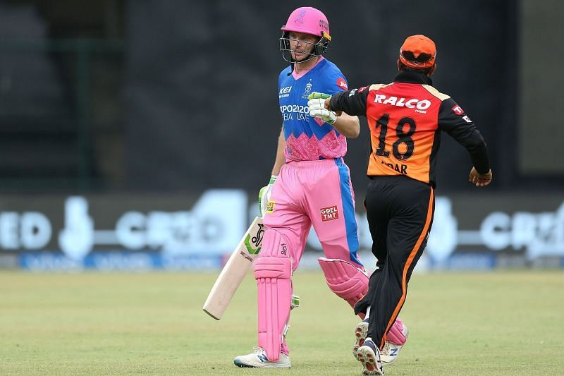 Jos Buttler smashed the SRH bowlers all over the ground. (Image Courtesy: IPLT20.com)
