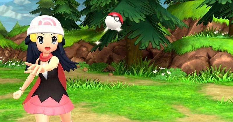 Pokemon Brilliant Diamond/Shining Pearl gameplay (Image via Game Freak)