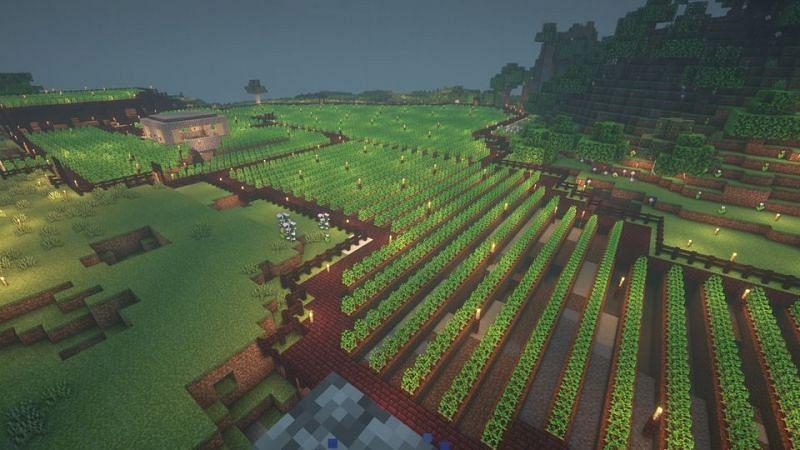 The largest potato farm that most players will ever see (Image via u/Ralseismyfursona on Reddit)