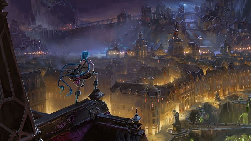 Arcane will feature the origin lore of Jinx and Vi (Image via Riot Games - League of Legends)