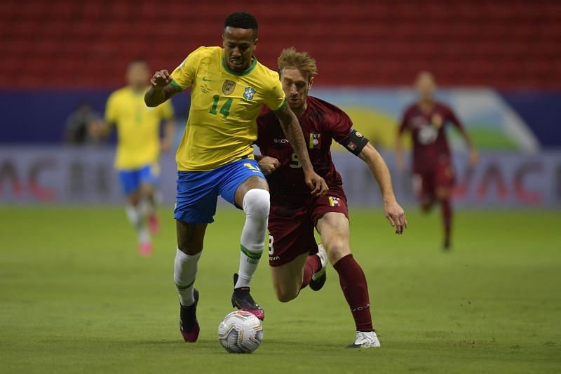 Eder Militao put in a solid defensive shift for Brazil