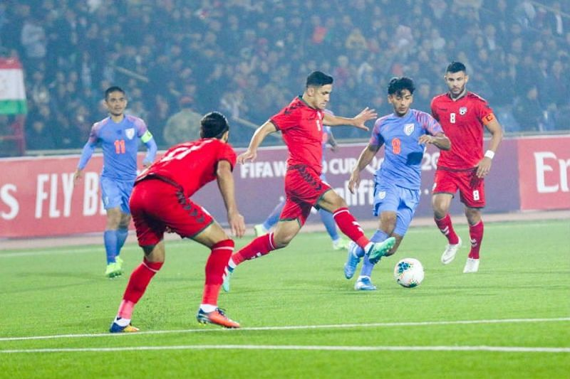 Indian football team and Afghanistan played out a 1-1 draw earlier in the qualifiers. (Image: AIFF)
