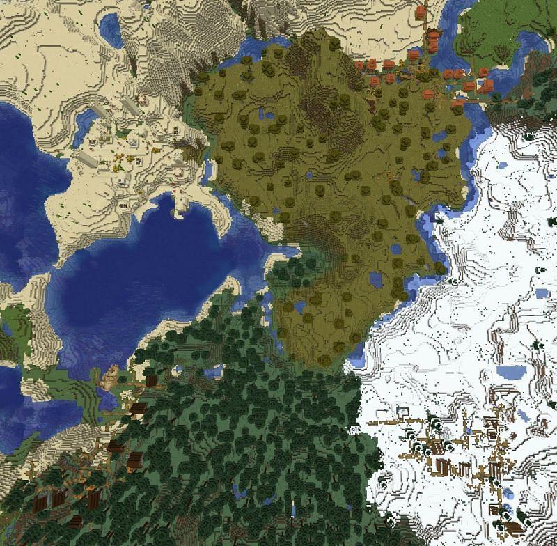 Four villages (Image via u/Plebiain on Reddit)