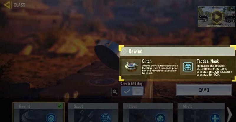 Fungsi mundur sedang digunakan (Gambar melalui Call of Duty: Mobile, YouTube)