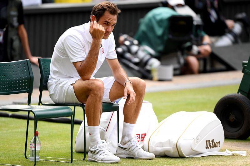 Roger Federer after losing the 2019 Wimbledon final