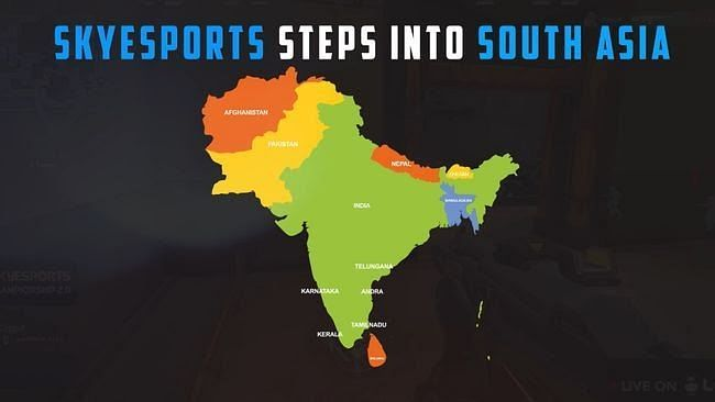 Skyesports is looking expand into the whole South Asia (Image via Skyesports)