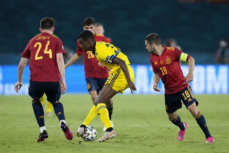 Spain v Sweden - UEFA Euro 2020: Group E Alvaro Morata reacts after missing a good chance to put Spain ahead against Sweden Enter caption