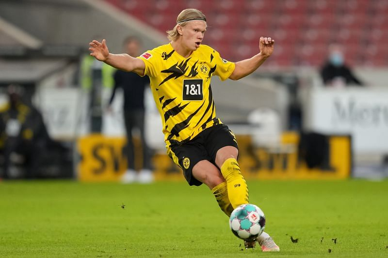 Erling Haaland has scored 57 goals for BVB (Photo by Christian Kaspar-Bartke/Getty Images)