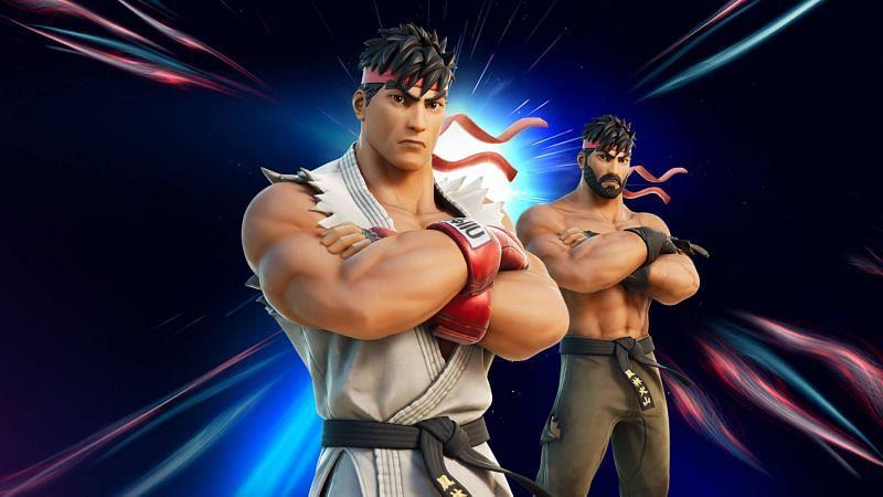 Ryu skin in Fortnite. Image via Epic Games Store