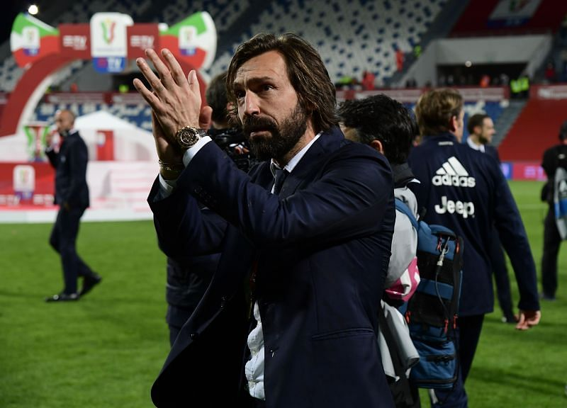 Former Juventus manager Andrea Pirlo. (Photo by Marco Rosi/Getty Images for Lega Serie A)