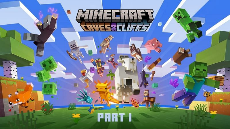 Official artwork for part one of the caves & cliffs update (Image via Mojang)