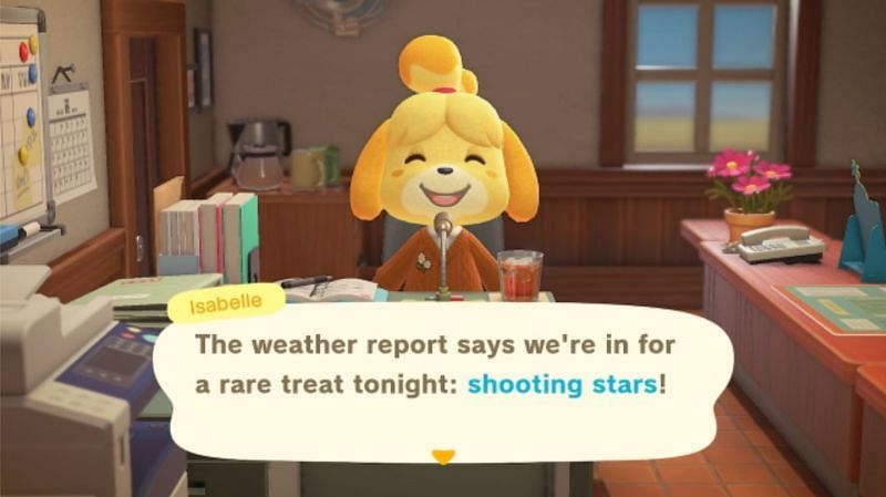Shooting Stars only occur during clear nights (Image via GoNintendo)