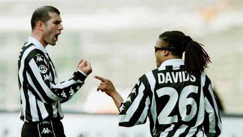Zinedine Zidane and Edgar Davids