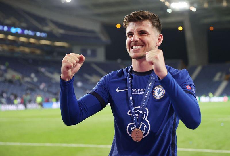 Mason Mount after winning the 2021 UEFA Champions League Final