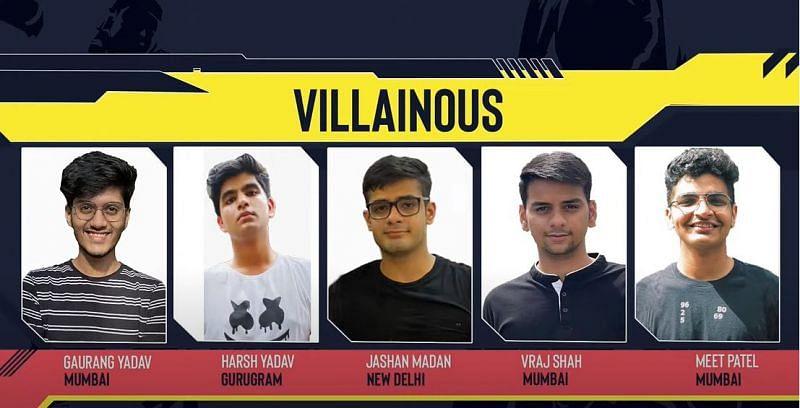 Team Villainous, Winner of Red Bull Campus Clutch India Finals (Image via Red Bull)