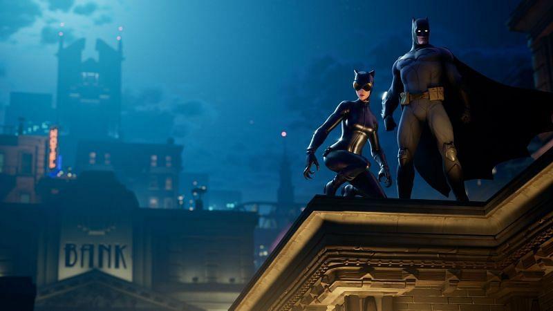 Batman loading screen for Fortnite. Image via Epic Games
