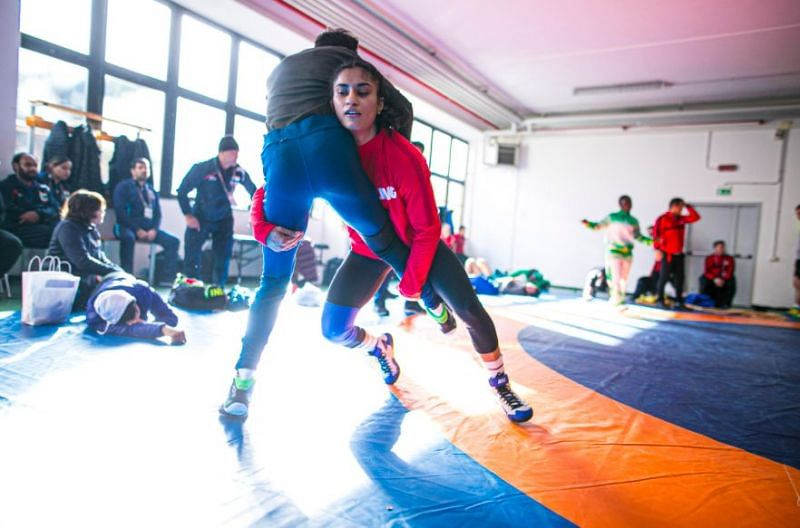 Vinesh Phogat getting ready for Poland Open. (Source: UWW)