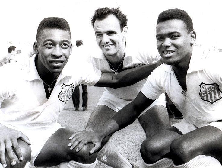 Pele, Pepe and Coutinho (Photo cred: Daily Advent Nigeria)