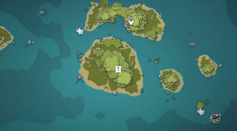 Twinning Isle mural location (image via Genshin Impact)