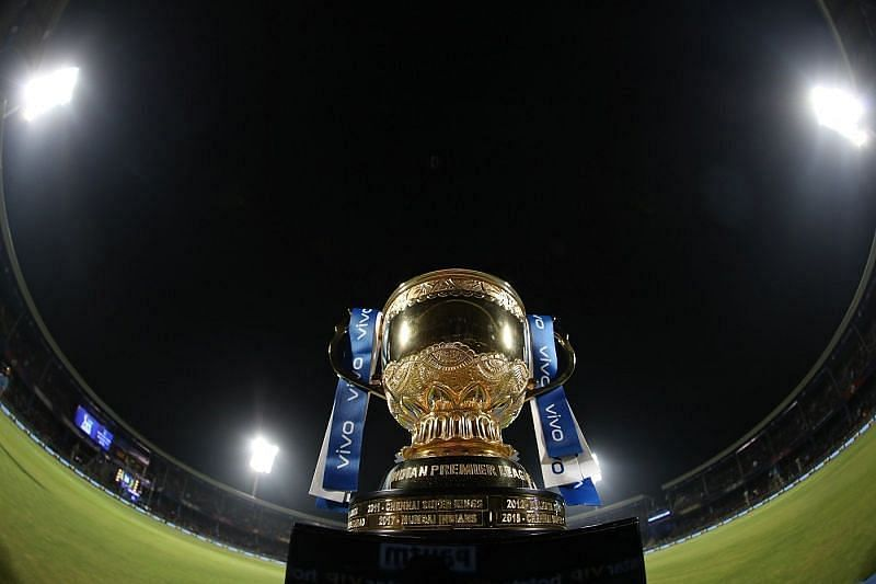 The coveted IPL trophy